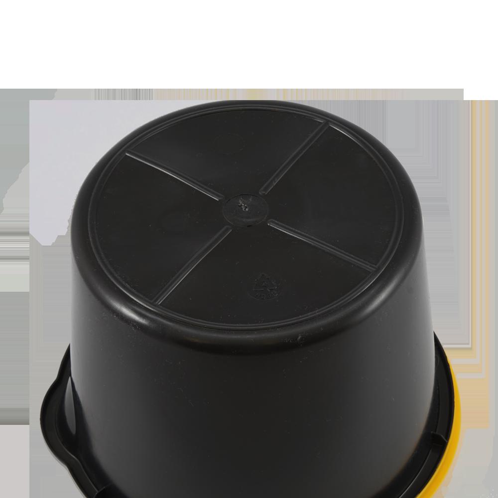 baueimer 6 liter schwarz mit kunststoffb gel eimer. Black Bedroom Furniture Sets. Home Design Ideas