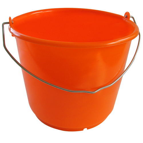 Eimer 10 Liter, extra stabil, orange aus HD-PE