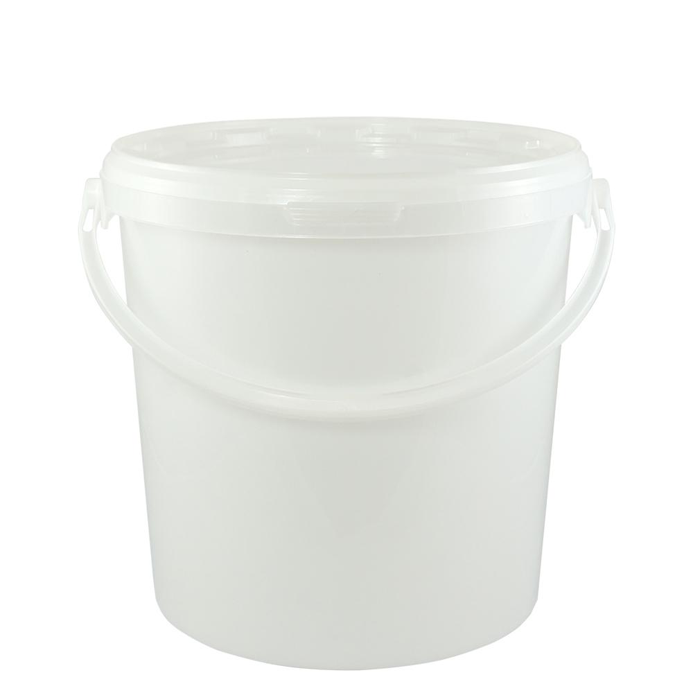 kunststoffeimer 10 7 liter rund natur mit deckel und kunststoffb gel eimer. Black Bedroom Furniture Sets. Home Design Ideas