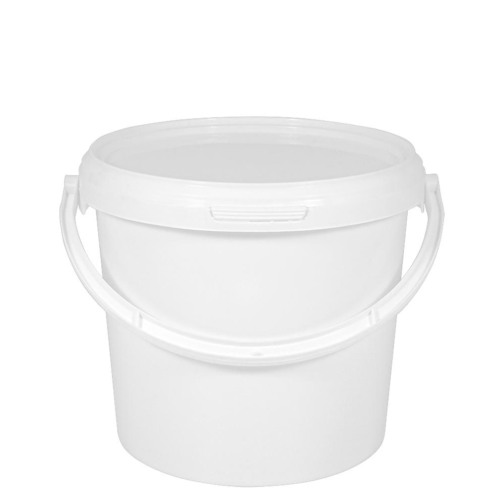 kunststoffeimer 3 8 liter rund wei mit deckel kunststoffb gel eimer. Black Bedroom Furniture Sets. Home Design Ideas