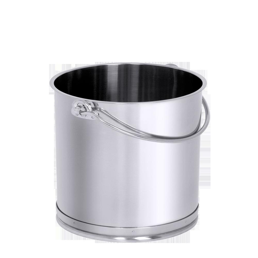 Top Edelstahl-Eimer 10 Liter, mit Bodenreifen, extra schwere Qualität MJ56