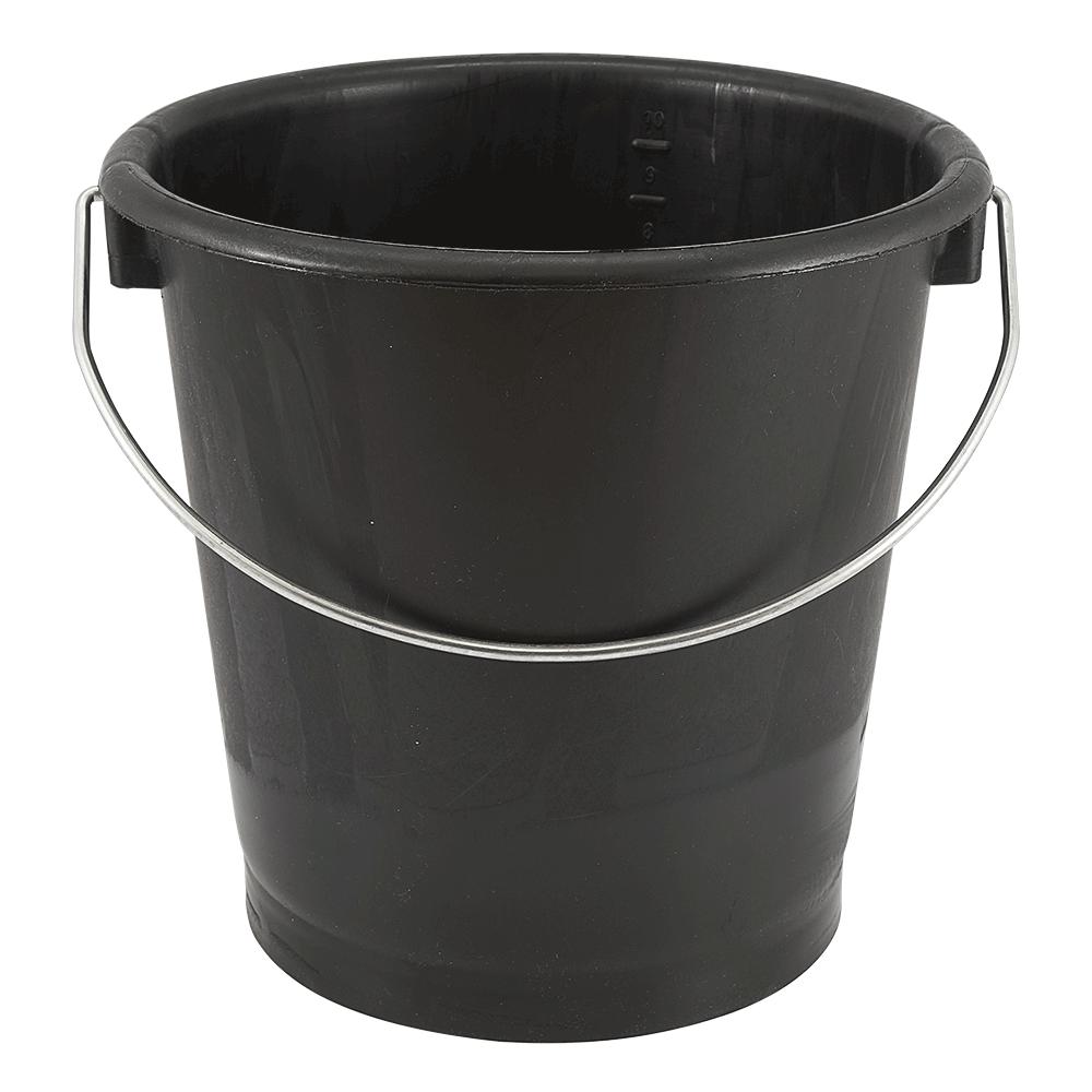 Turbo Hochwertiger Industrie-Eimer 10 L, dunkelgrau, 615 LDPE, graduiert CK87