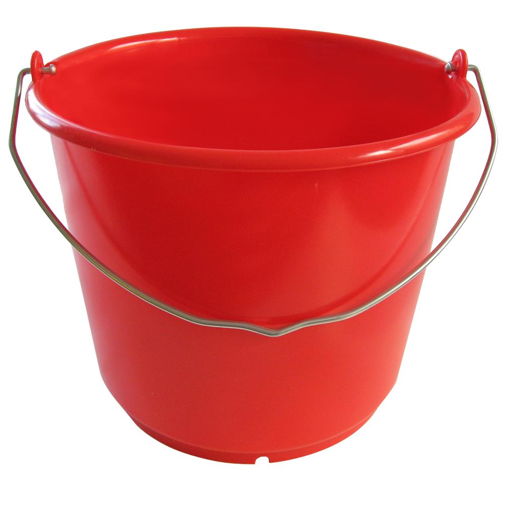 Extrem Eimer 10 Liter, extra stabil, rot aus HD-PE - Eimer-Welt.de OP51