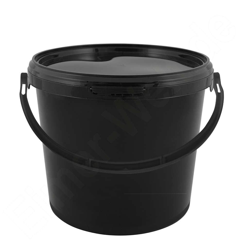 Gut gemocht Kunststoffeimer 5,6 Liter, rund, schwarz, mit Deckel und JR91