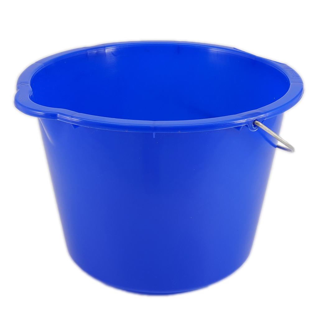 baueimer 20 liter blau mit metallb gel eimer. Black Bedroom Furniture Sets. Home Design Ideas
